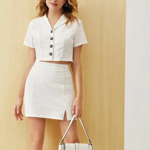 SHEIN top and skirt set.